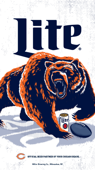 Bears Wallpaper Miller Lite