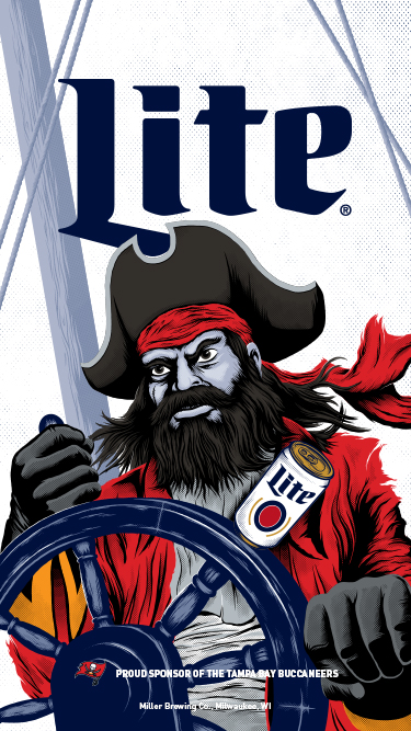 Buccaneers Wallpaper | Miller Lite