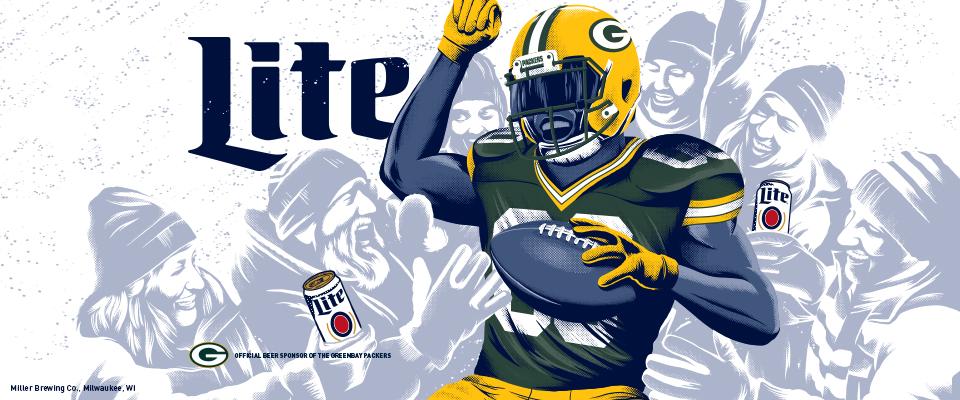 Packers Wallpaper   Miller Lite