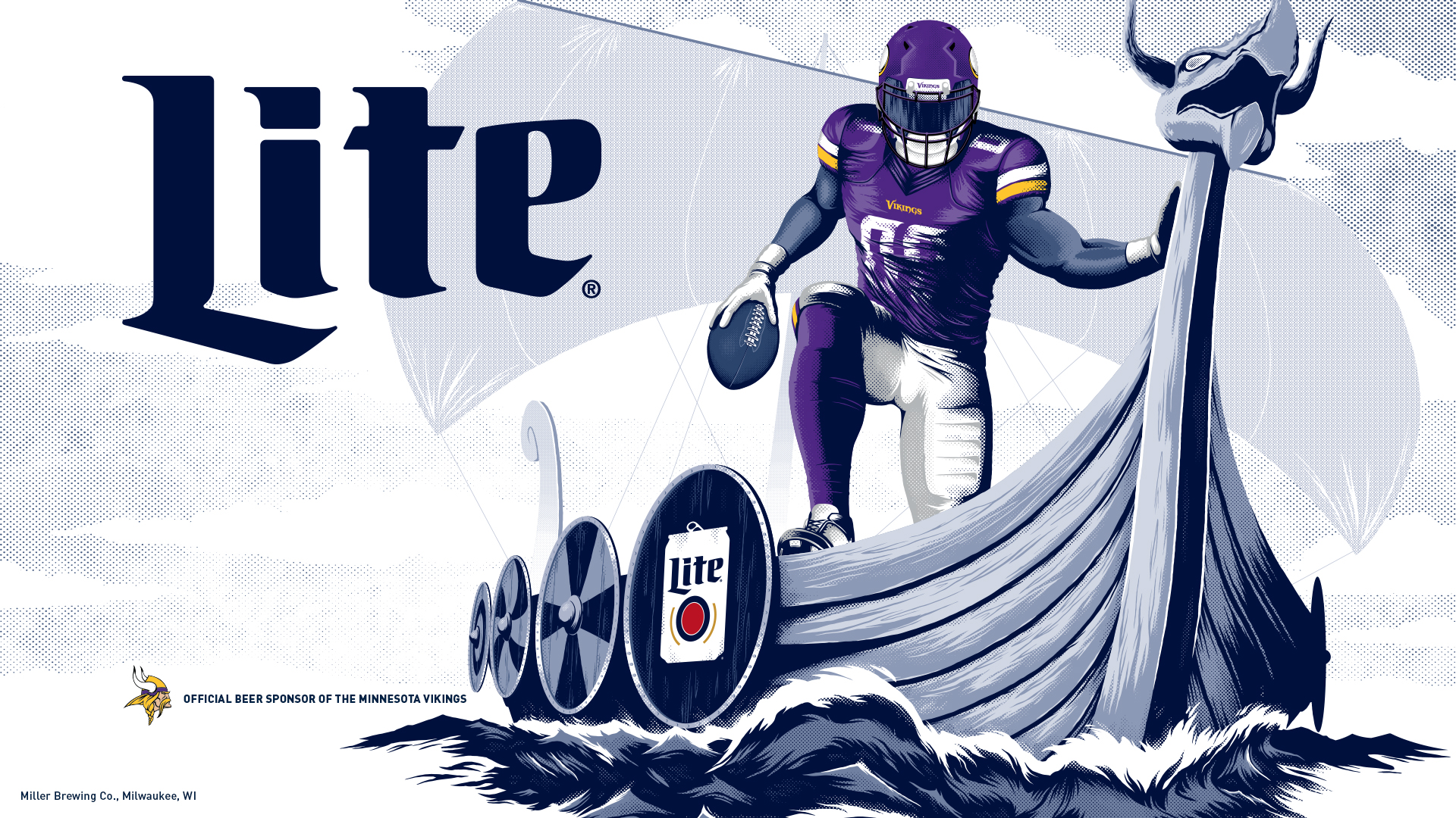 Vikings Wallpaper Miller Lite