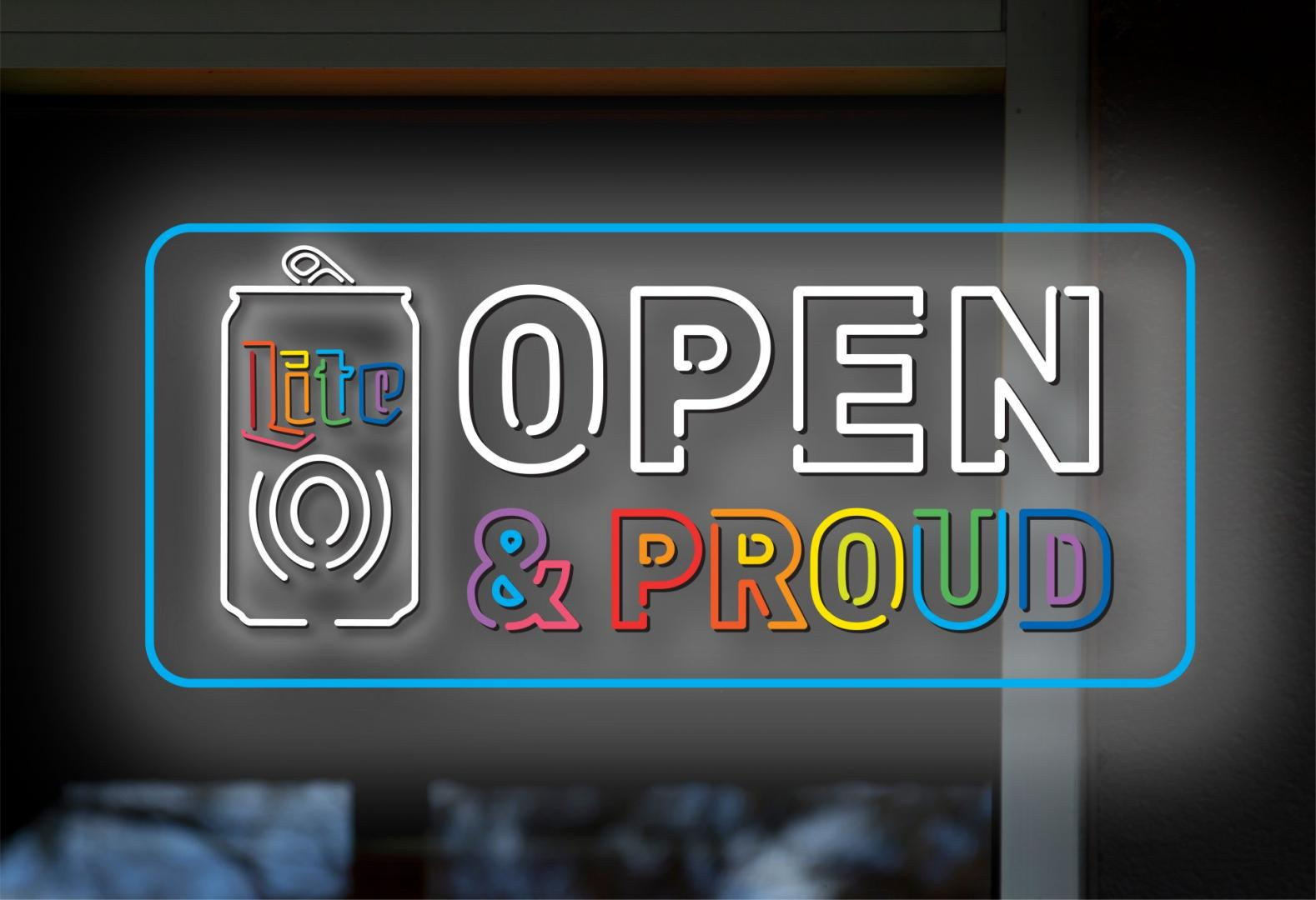 Open and Proud logo
