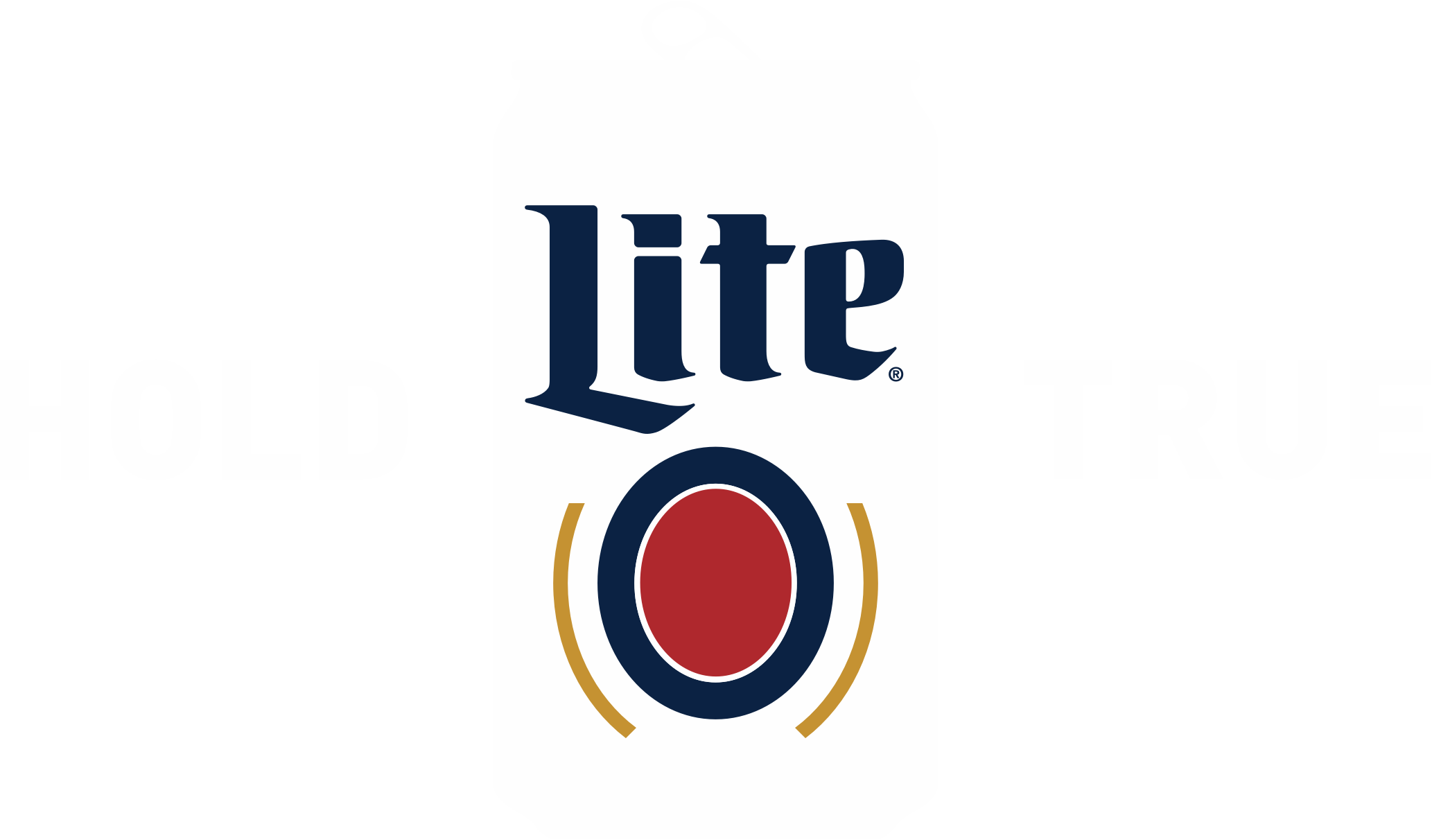 Miller Lite can with Hold True label