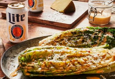 Chipotle Caesar Salad with Grilled Romaine