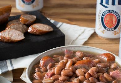 Pinto Beans with Smoked Sausage